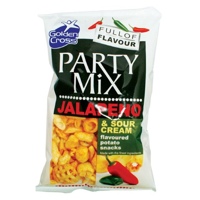 GOLDEN CROSS PARTY MIX JALEPENO & SOUR CREAM 125g (12 PACK)