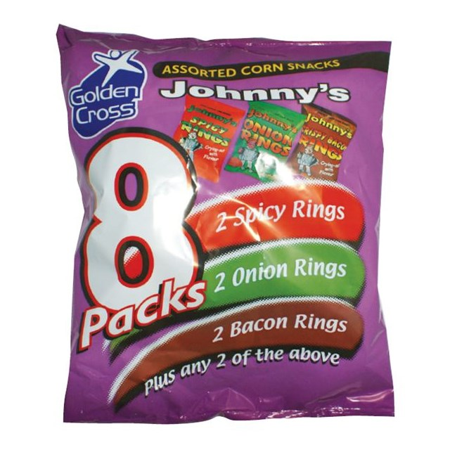 JOHNNYS VARIETY RINGS 8PACK (12 x 8 PACK)