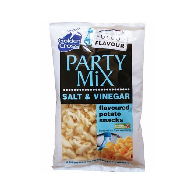 GOLDEN CROSS PARTY MIX SALT & VINEGAR 125g (12 PACK)