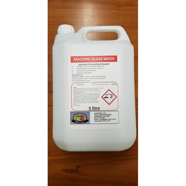 GLENCREST 5L MACHINE GLASS WASH