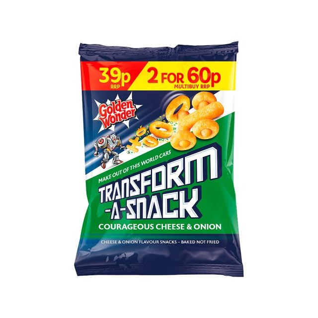 TRANSFORMERS 2 FOR 60P OR 39P CHEESE & ONION