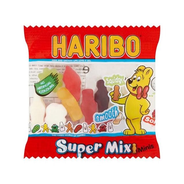 HARIBO KIDDIES SUPERMIX 100 TREAT BAGS HALLOWEEN