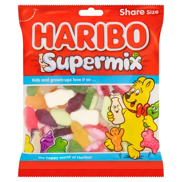 HARIBO SUPERMIX BAGS 140g (12 PACK)