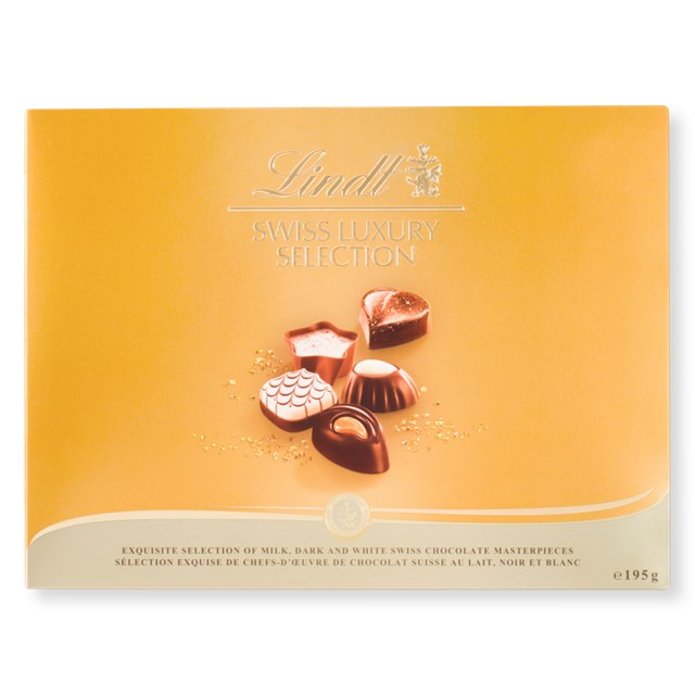 LINDT SWISS LUXURY SELECTION CHOCOLATE BOX 195g