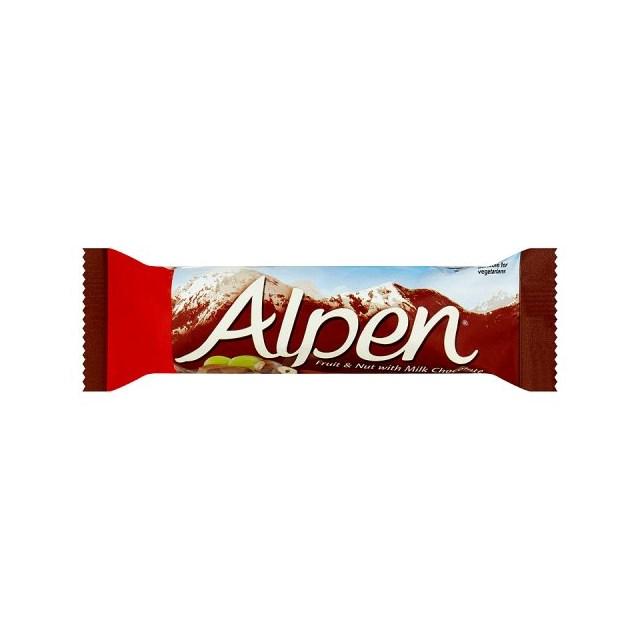ALPEN BARS FRUIT & NUT CHOCOLATE