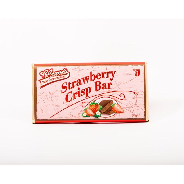 CLEEVES IRISH STRAWBERRY CRISP BAR