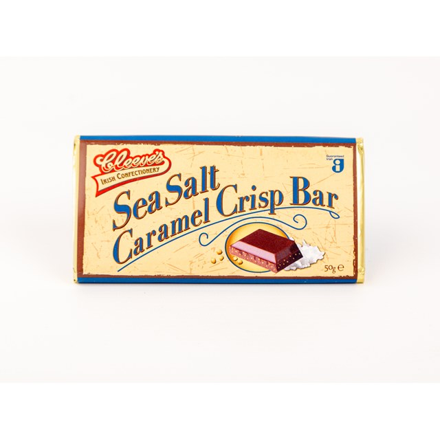 CLEEVES IRISH SEA SALT CARAMEL CRISP BAR