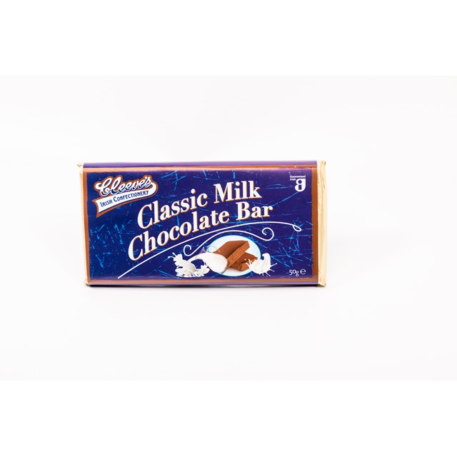 CLEEVES IRISH MILK CHOCOLATE BAR