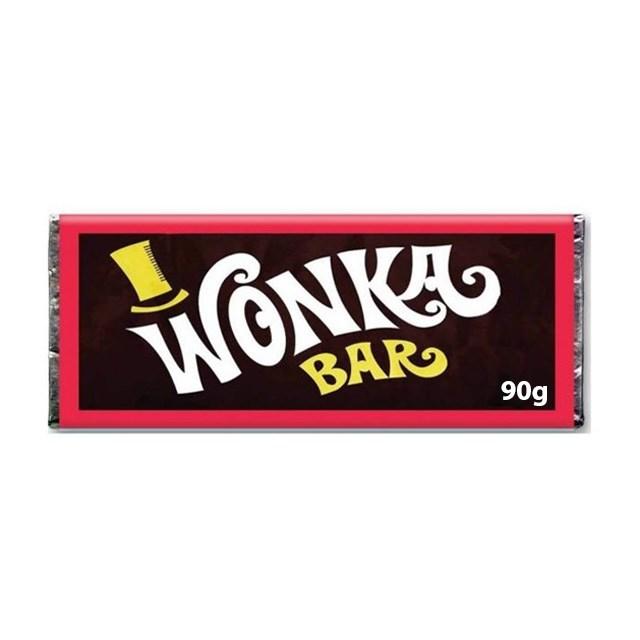 WONKA CHOCOLATE BAR SINGLE BAR 90g