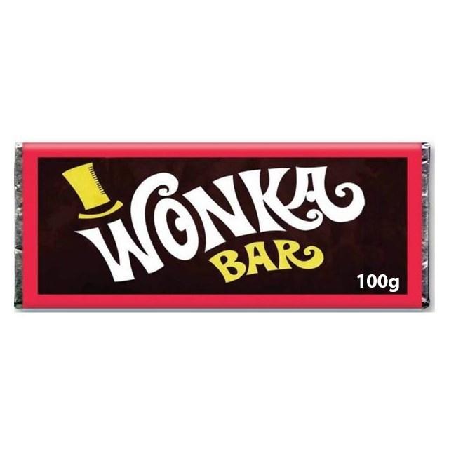 WONKA CHOCOLATE BARS 100g (24 PACK)