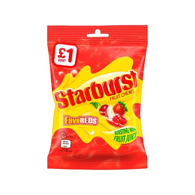 STARBURST £1 FAVE REDS