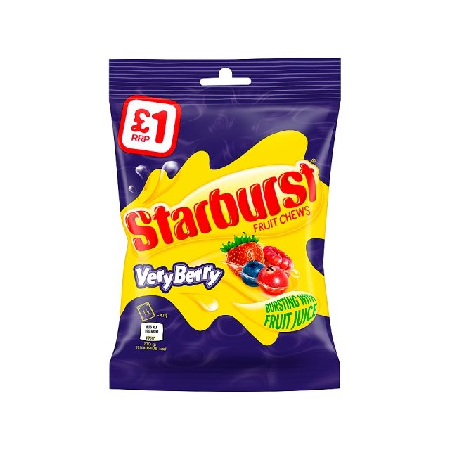 STARBURST £1 VERY BERRY