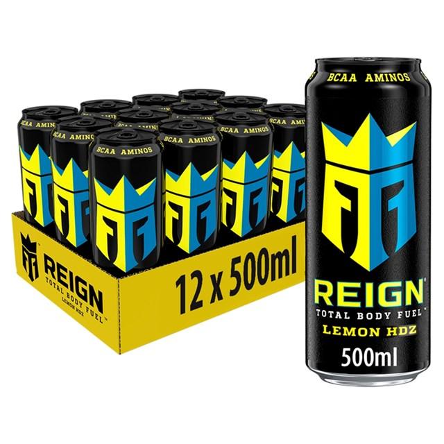 REIGN ENERGY DRINK LEMON HDZ £1.49