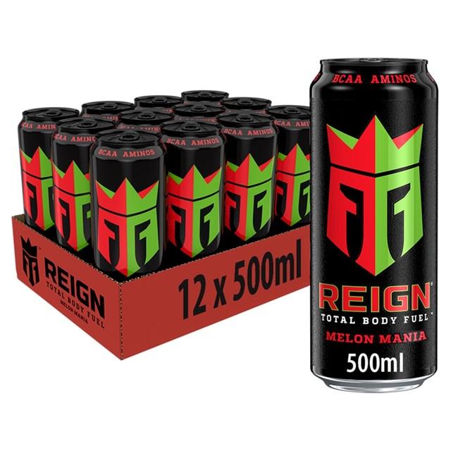 REIGN ENERGY DRINK MELON MANIA £1.49