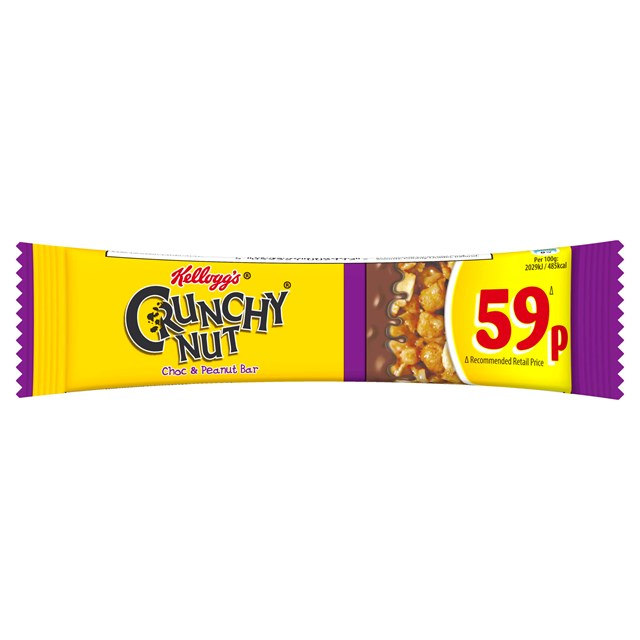 KELLOGGS CEREAL BARS 59P CRUNCHY NUT (24 PACK)