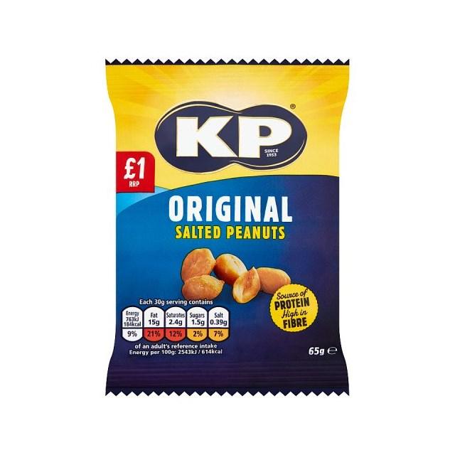 KP SALTED PEANUTS 65g £1 (16 PACK)