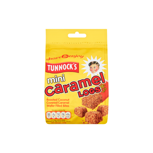 TUNNOCKS MINI CARAMEL LOG SINGLE POUCH 150g
