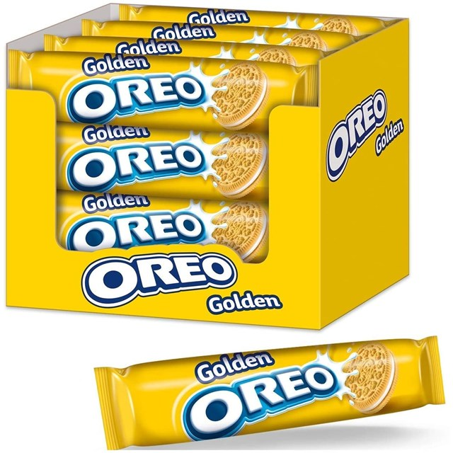 OREO GOLDEN CRUNCH BISCUITS 154g (16 PACK)