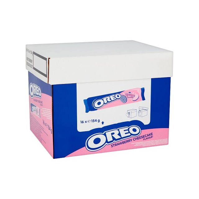 OREO STRAWBERRY CHEESECAKE BISCUITS 154g (16 PACK)