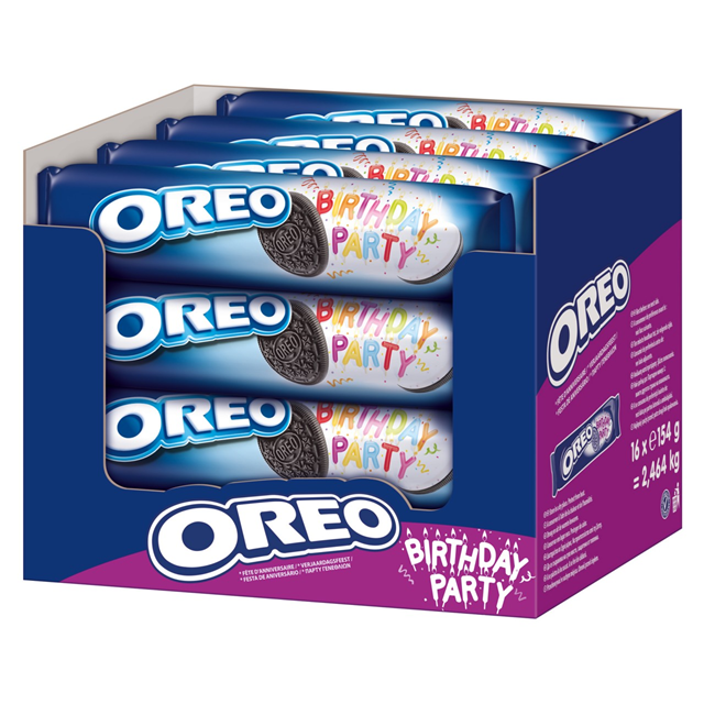 OREO BIRTHDAY PARTY BISCUITS 154g (16 pack)