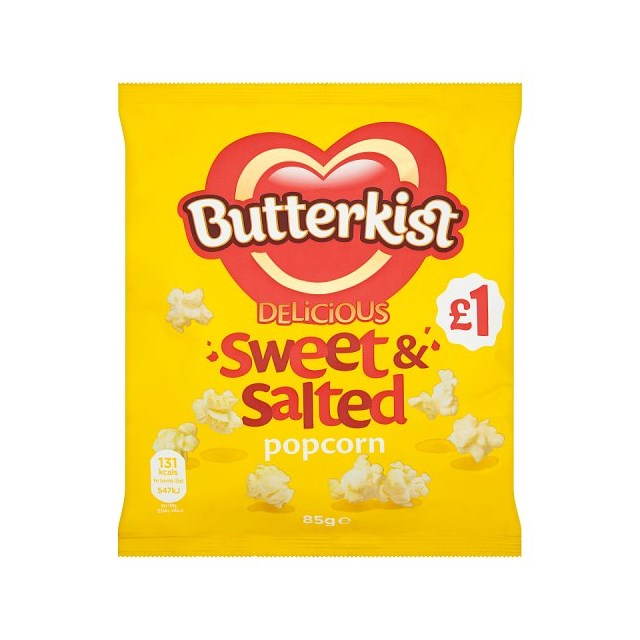 BUTTERKIST £1 POPCORN SWEET & SALT