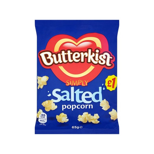 BUTTERKIST £1 POPCORN SALTED