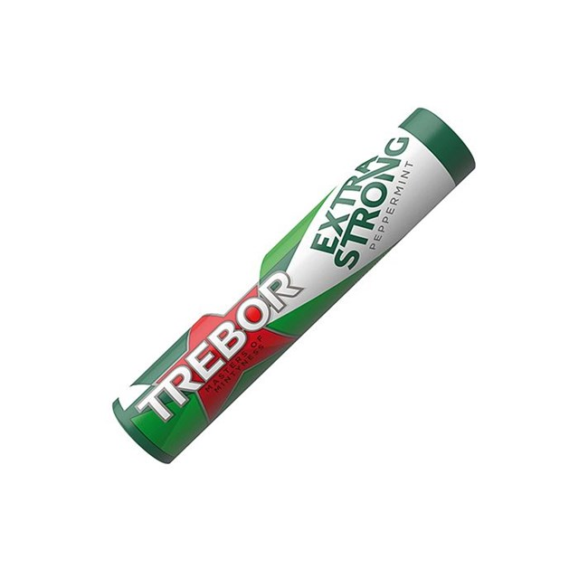 TREBOR EXTRA STRONG PEPPERMINT GREEN
