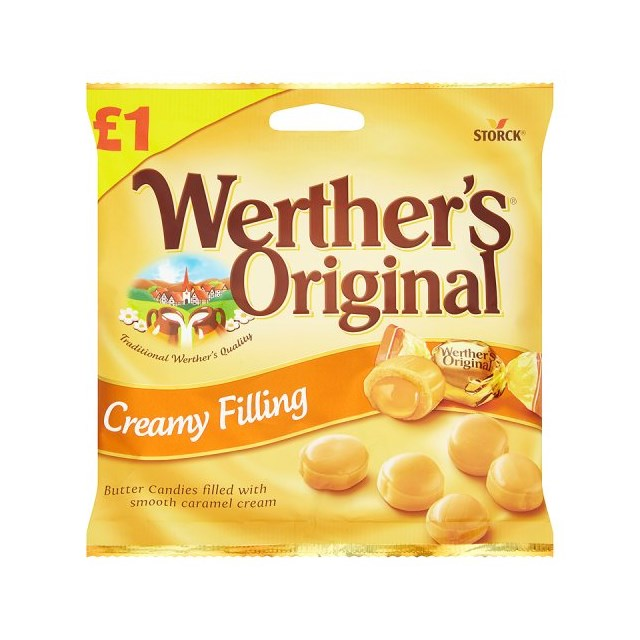 WERTHERS ORIGINAL CREAMY FILLING £1 110g (12 PACK)