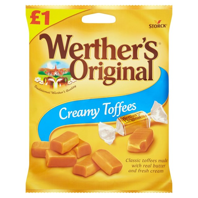 WERTHERS £1 CREAMY TOFFEE
