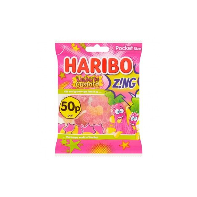HARIBO 50P RHUBARB & CUSTARD ZING