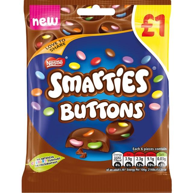 SMARTIES BUTTONS £1