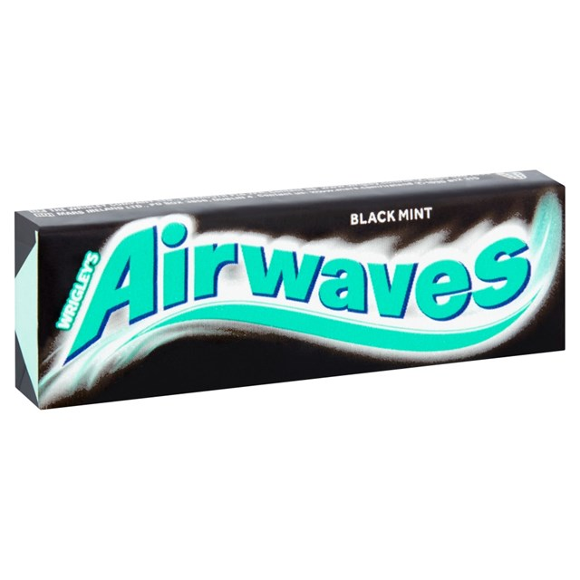 WRIGLEYS AIRWAVES BLACK MINT