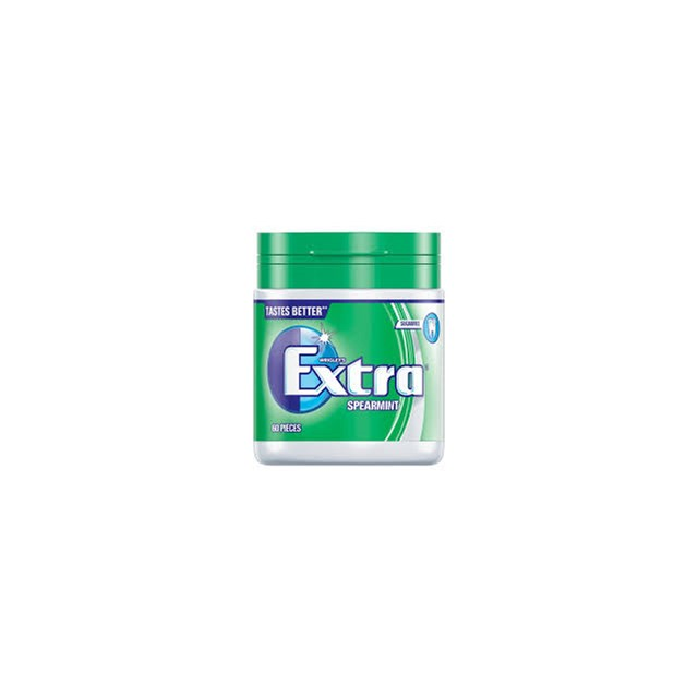 WRIGLEYS BOTTLE EXTRA SPEARMINT CHEWING GUM 6 BOTTLES