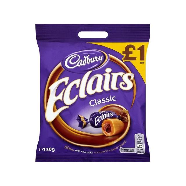 CHOCOLATE ECLAIRS £1