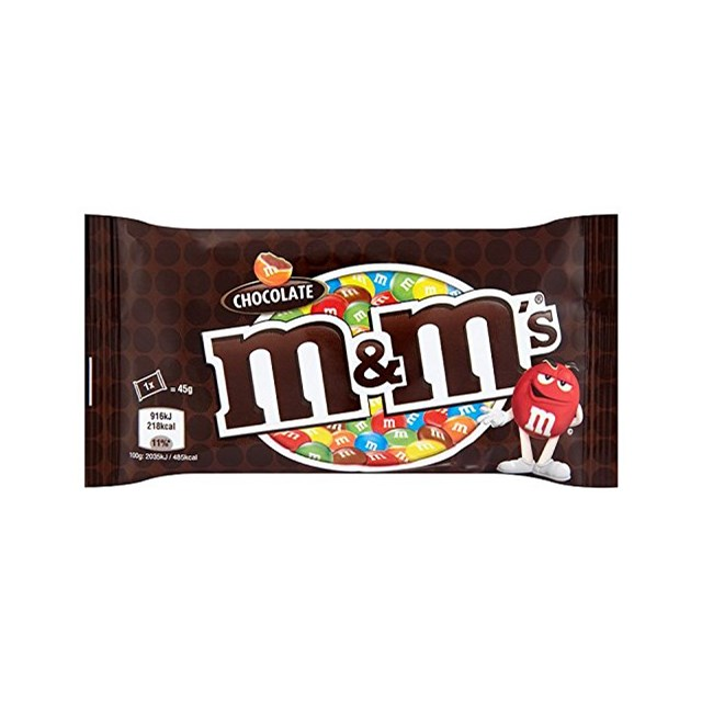 M&M'S CHOCOLATE BAGS 45g (24 PACK)