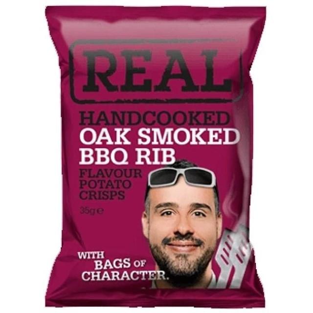 REAL CRISPS OAK SMOKED BBQ RIB 35g (24 PACK)