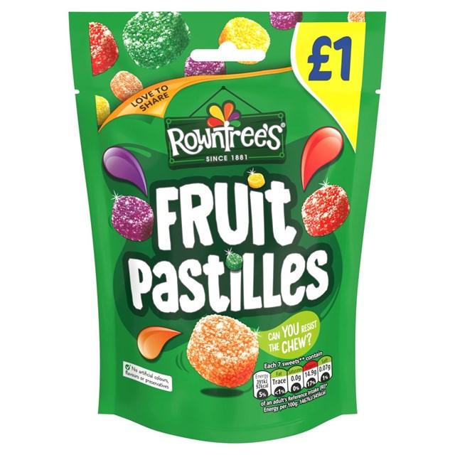 ROWNTREES FRUIT PASTILLES 120g £1 (10 PACK)