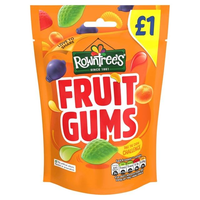 ROWNTREES £1 FRUIT GUMS
