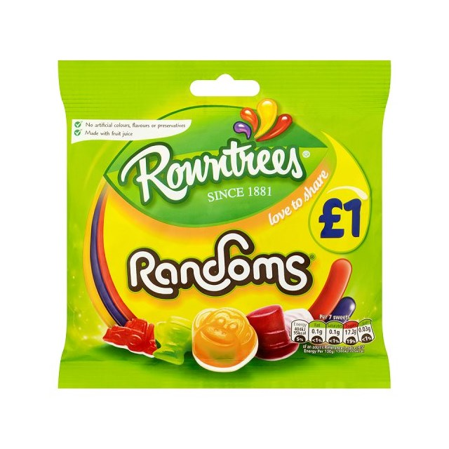 ROWNTREES £1 RANDOMS BAGS