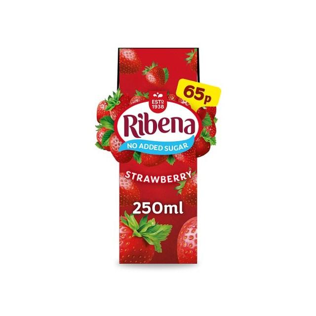 RIBENA 50P CARTON STRAWBERRY