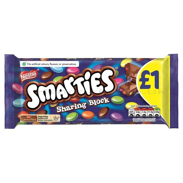 SMARTIES £1 BLOCK