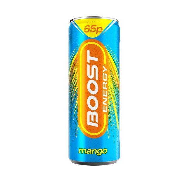 BOOST MANGO ENERGY DRINK 250ml (24 PACK)