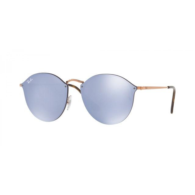 RAY BAN Sunglasses BLAZE ROUND DARK VIOLET 90351U