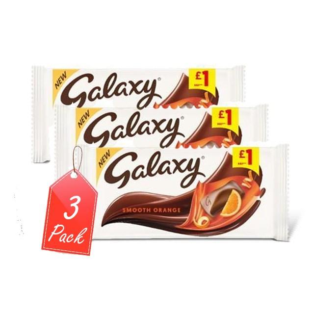 GALAXY ORANGE 110g £1 (3 PACK)