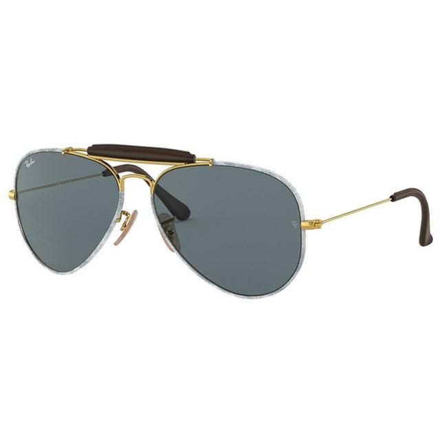 RAY BAN Sunglasses AVIATOR GOLD/GREY 9193R5