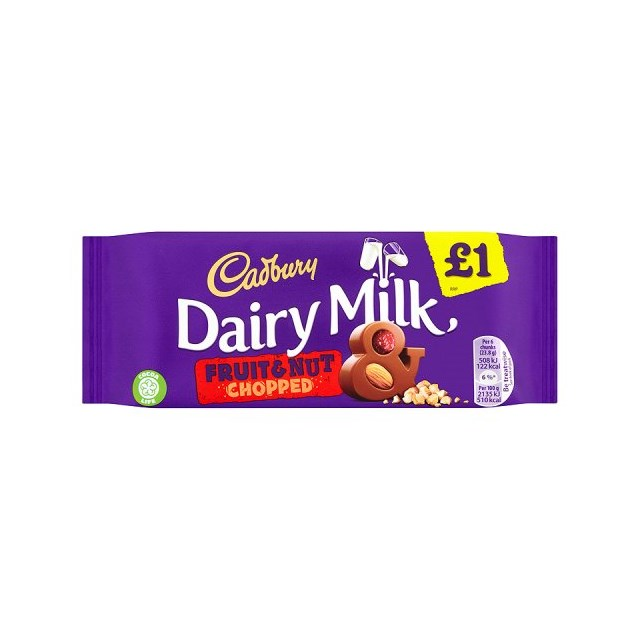 DAIRY MILK £1 FRUIT & NUT CHOPPED