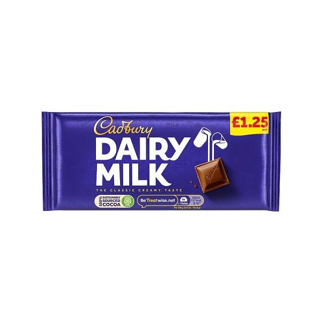 DAIRY MILK £1 22's