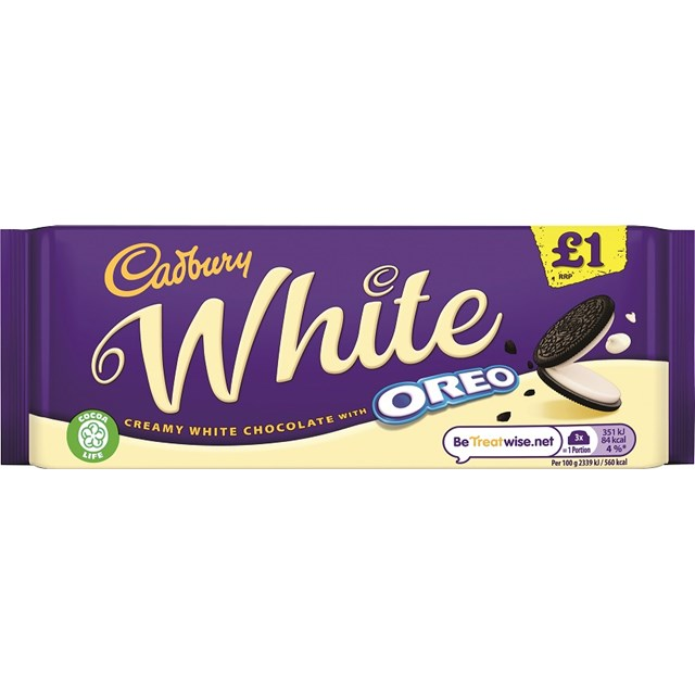 DAIRY MILK £1 WHITE OREO