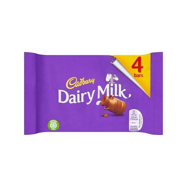 DAIRY MILK 4 BARS SINGLE PACK