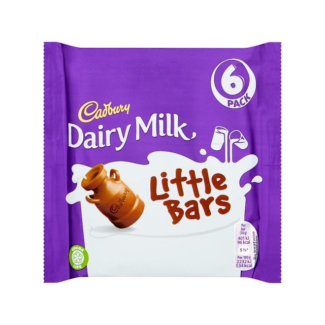 CADBURYS DAIRY MILK LITTLE BARS (16 x 6PACK)